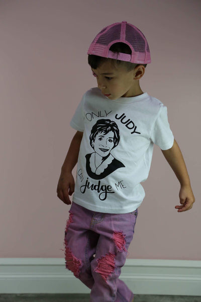 Only Judy Can Judge Me *BLACK INK ONLY*  Kids Tee