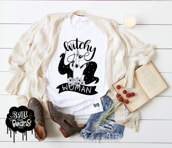 Witchy Woman Adult Tee Or Tank