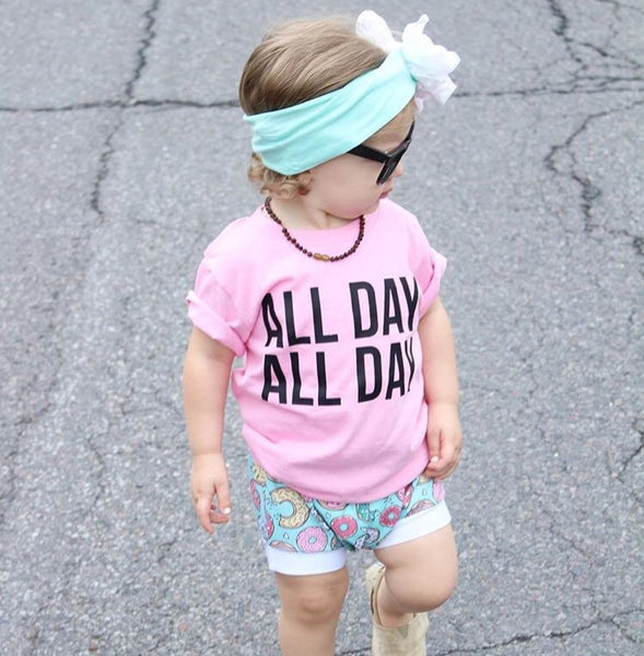 All Day All Day Kids Funny Tee