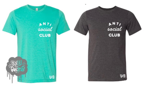 Anti Social Club Introvert tee or tank