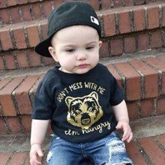 """Don't Mess with Me"" Hangry Toddler Tee"