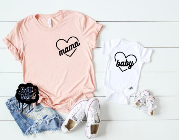 Mama & Baby heart — Mommy and Me Set
