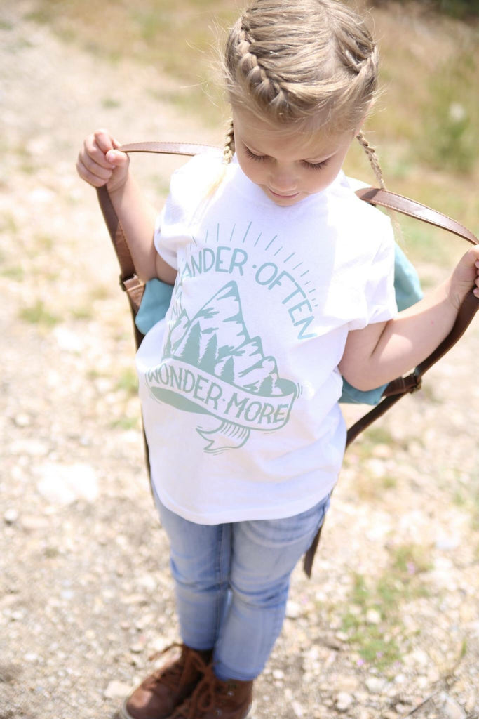 Wander Often Wander More Kid's Shirt