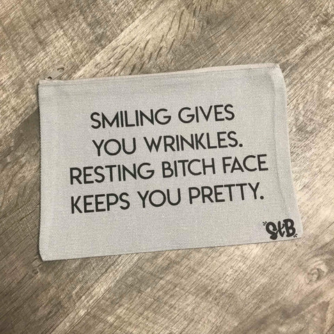 Resting B*tch Face Makeup Bag