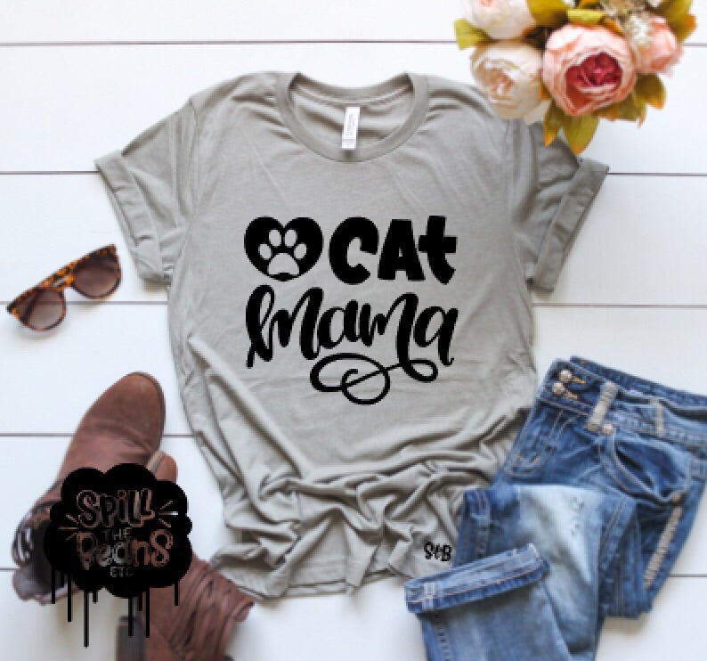 Cat Mama Adult Tee Or Tank