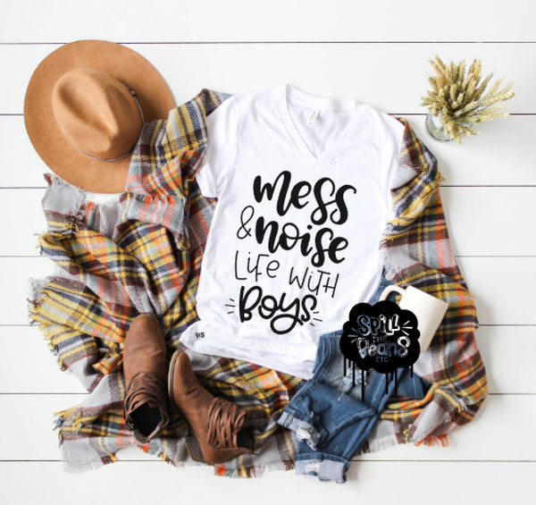 Mess And Noise Life With Boys Shirt