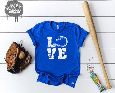 Love Baseball Adult Shirt