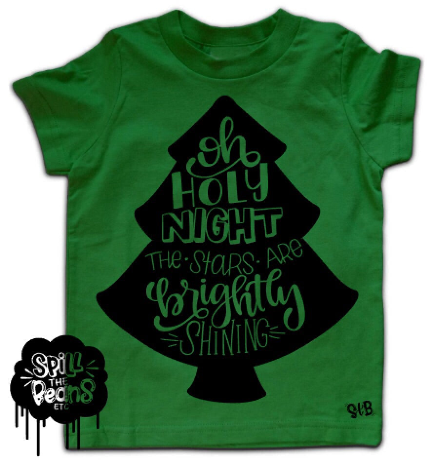 Oh Holy Night Kid's Christmas Tee