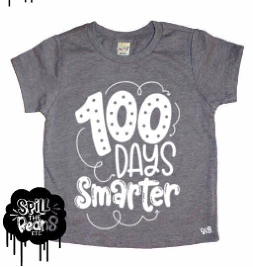 100 Days Smarter Kids Shirt for the 100th Day of School