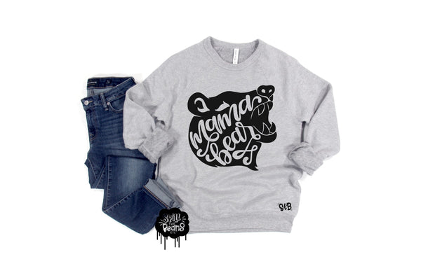 Mama Bear Fleece crewneck pullover