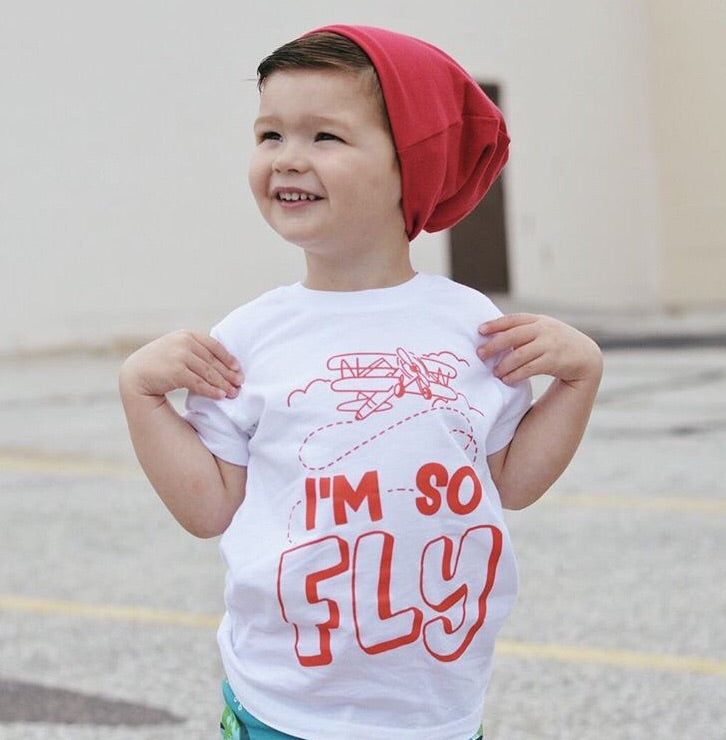 I'm So Fly Kids Airplane Tee