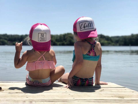 Chill + No Chill Toddler Snapback Trucker Hats