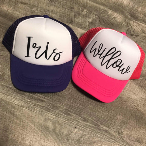 Custom Name Toddler SnapBack Trucker Hat