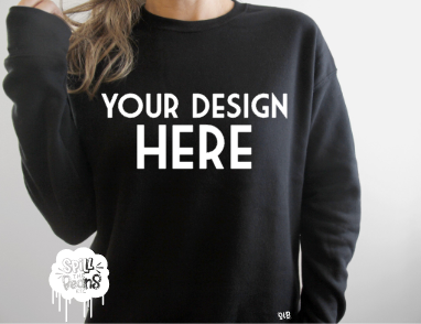 Custom crew neck sweater