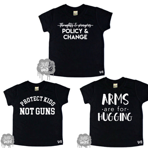 3 Pack Policy Change Kid's Shirt