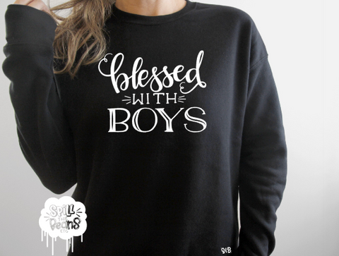 Blessed With Boys Fleece crewneck pullover