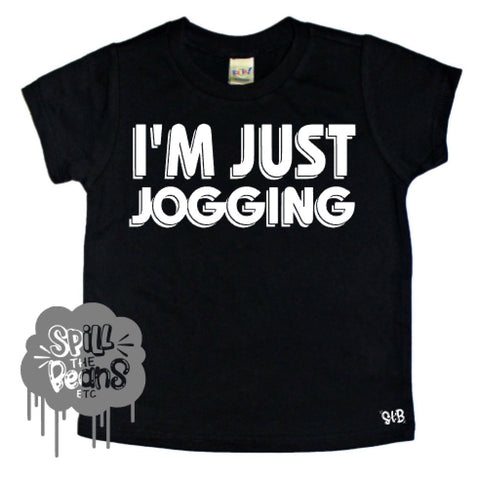 I'm Just Jogging Tee for Ahmaud Arbery (just words) kids Shirt