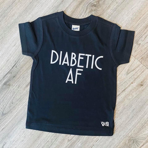 Diabetic AF kids Bodysuit or Tee