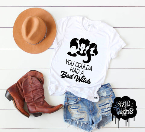 You Coulda Had a Bad Witch — Hocus Pocus & Lizzo inspired Adult Halloween Shirt