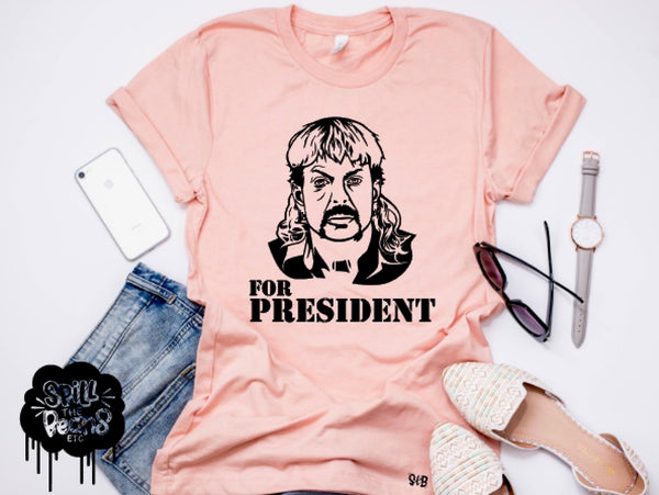 Joe Exotic for President tee or tank