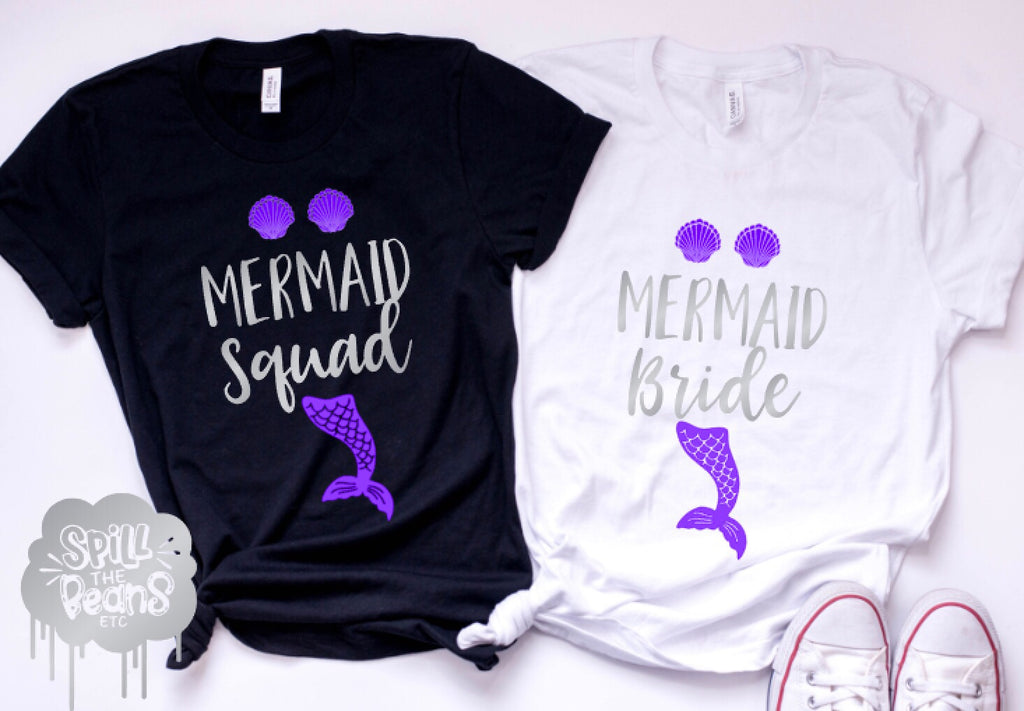 Mermaid Squad / Bride Bachelorette Tees or Tanks