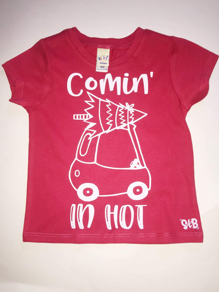 Comin' In Hot Christmas Tiny Tyke Kids Shirt