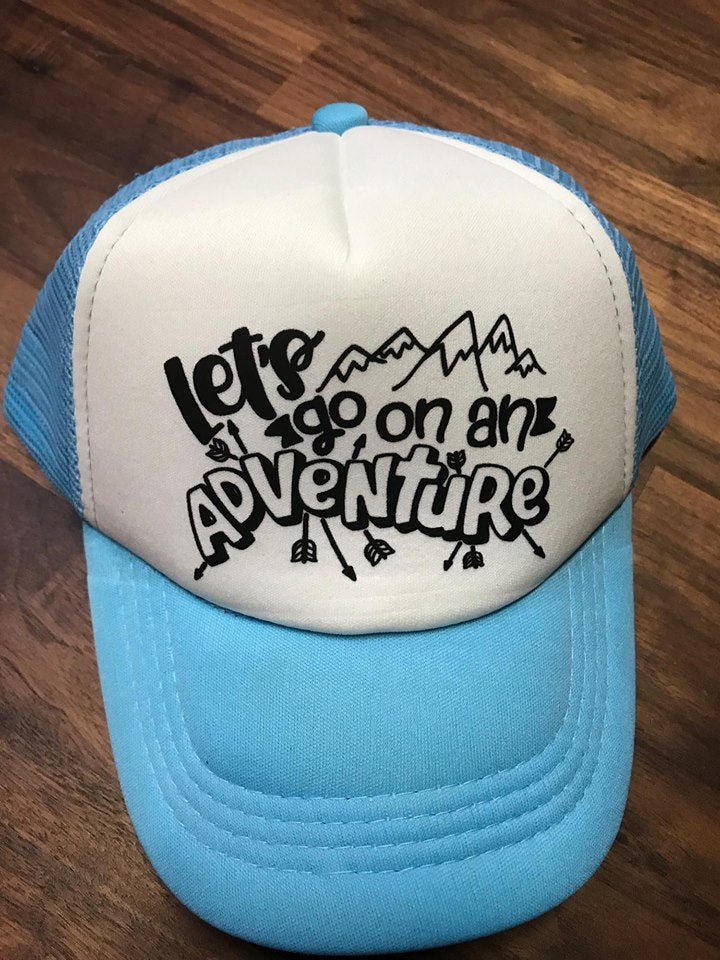 Let's Go On An Adventure Toddler SnapBack Trucker Hat