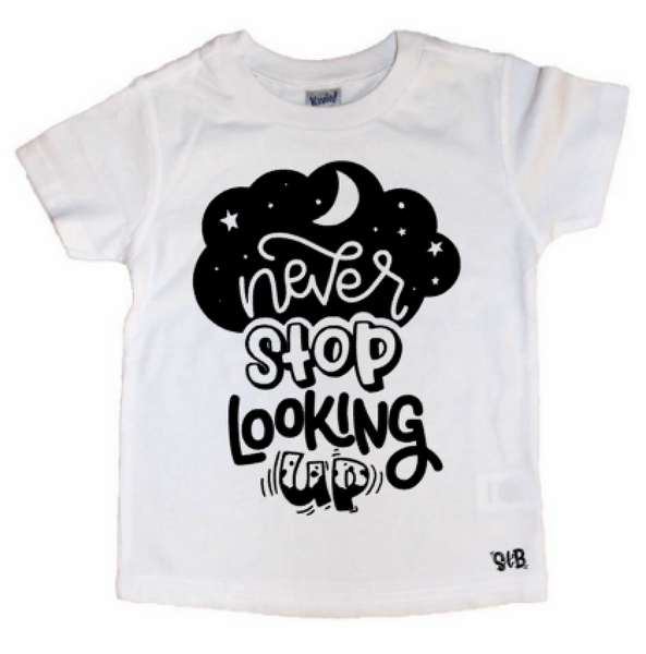 Never Stop Looking Up Kid's Shirt