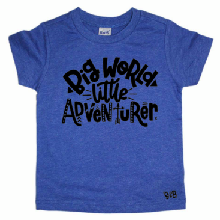 Big World Little Adventurer Kid's Shirt