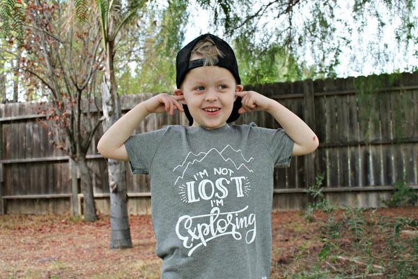 I'm Not Lost I'm Exploring Kid's Shirt