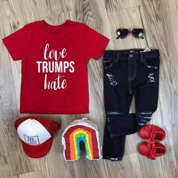 Love Trumps Hate Kid's Tee