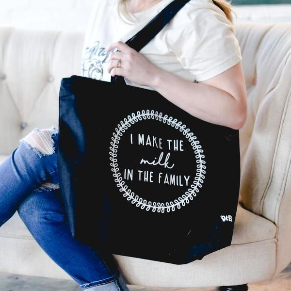 I Make The Milk Canvas Bag