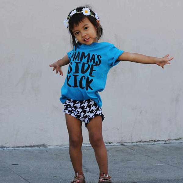 Mama's Side Kick Kid's Shirt or Bodysuit