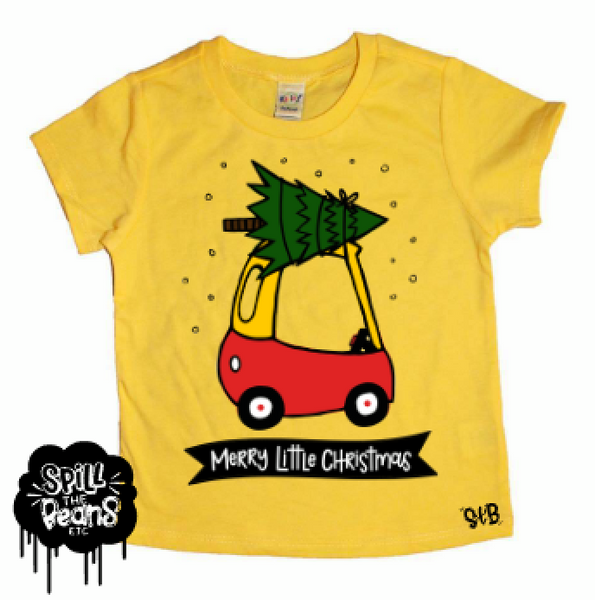 Merry Little Christmas Holiday Kid's Shirt Or Bodysuit