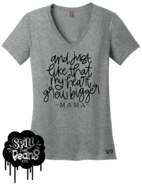 And Just Like That My Heart Grew Bigger Motherhood Tee Or Tank