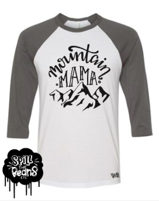 Mountain Mama Raglan Shirt