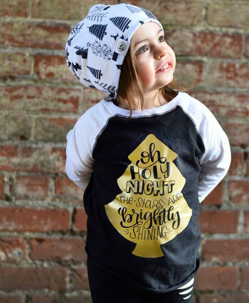Oh Holy Night Kid's Raglan