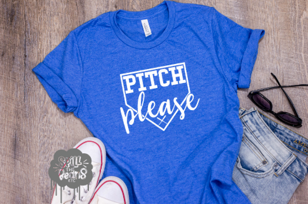 Pitch Please Baseball Adult Tank or Tee