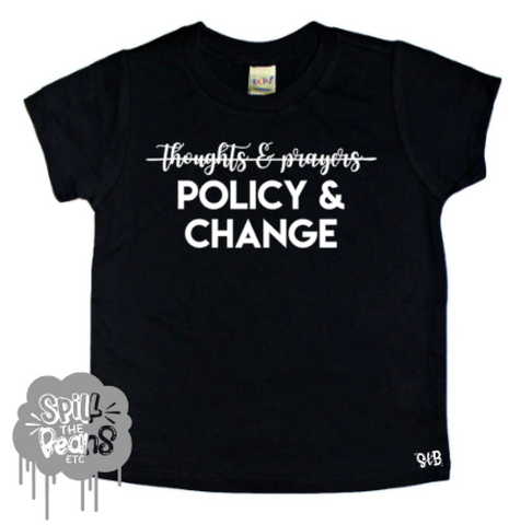 Policy And Change Kid's Shirt