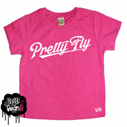 Pretty Fly For A Small Fry® Front & Back Print Kid's Bodysuit or Tee