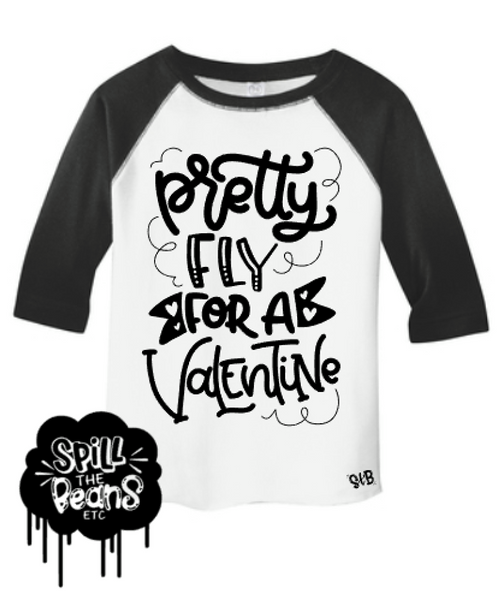 Pretty Fly For A Valentine Kid's Raglan