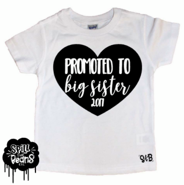Promoted To Big Sister Tee Shirt Or Bodysuit