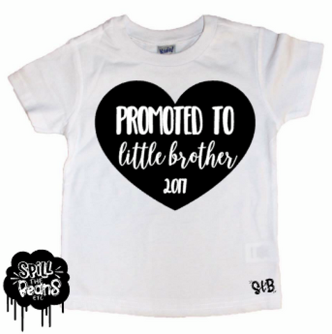 Promoted To Little Brother Tee Shirt Or Bodysuit