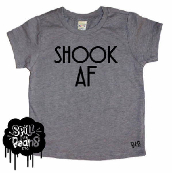 Shook AF Kid's Tee Shirt Or Bodysuit