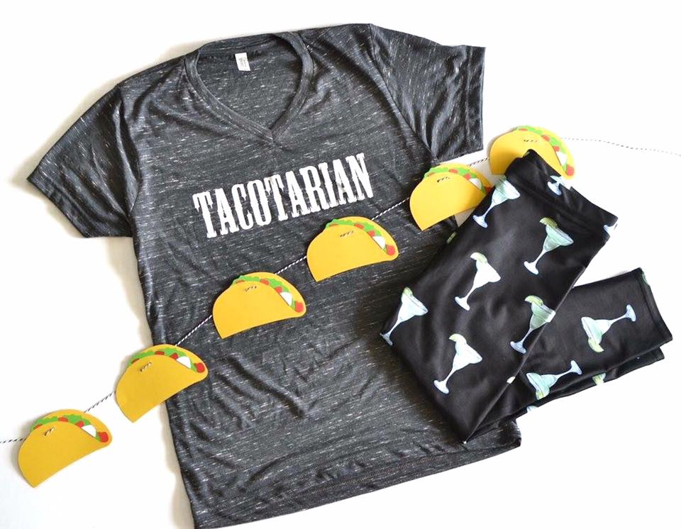 Tacotarian Adults Funny Tee Or Tank