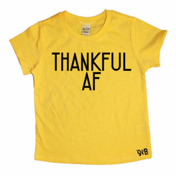 Thankful AF Kid's Shirt
