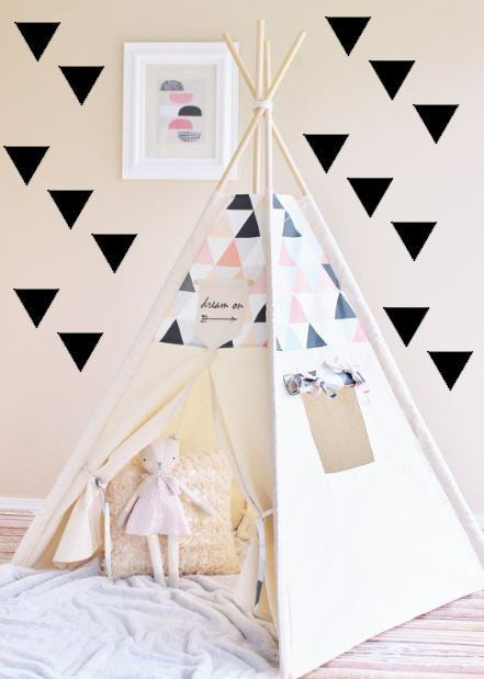 Triangle Wall Decals Monochrome Custom Colors Home Decor DIY
