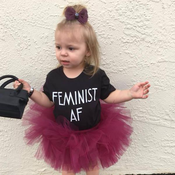 Feminist AF Toddler and Baby Tee