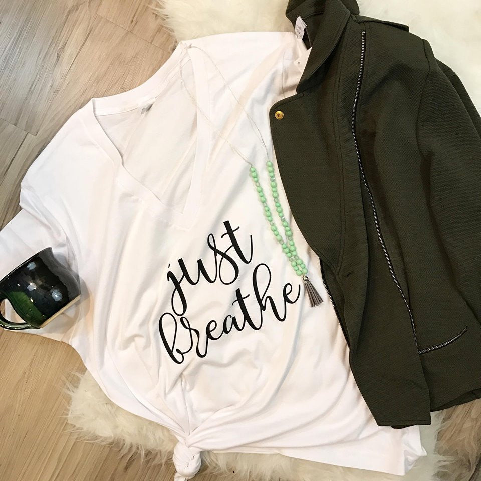 Just Breathe Tee or Tank