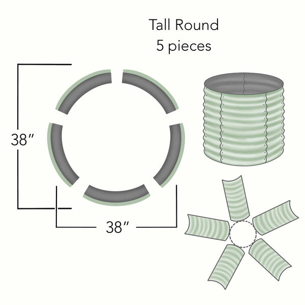 Round Tall Dimensions